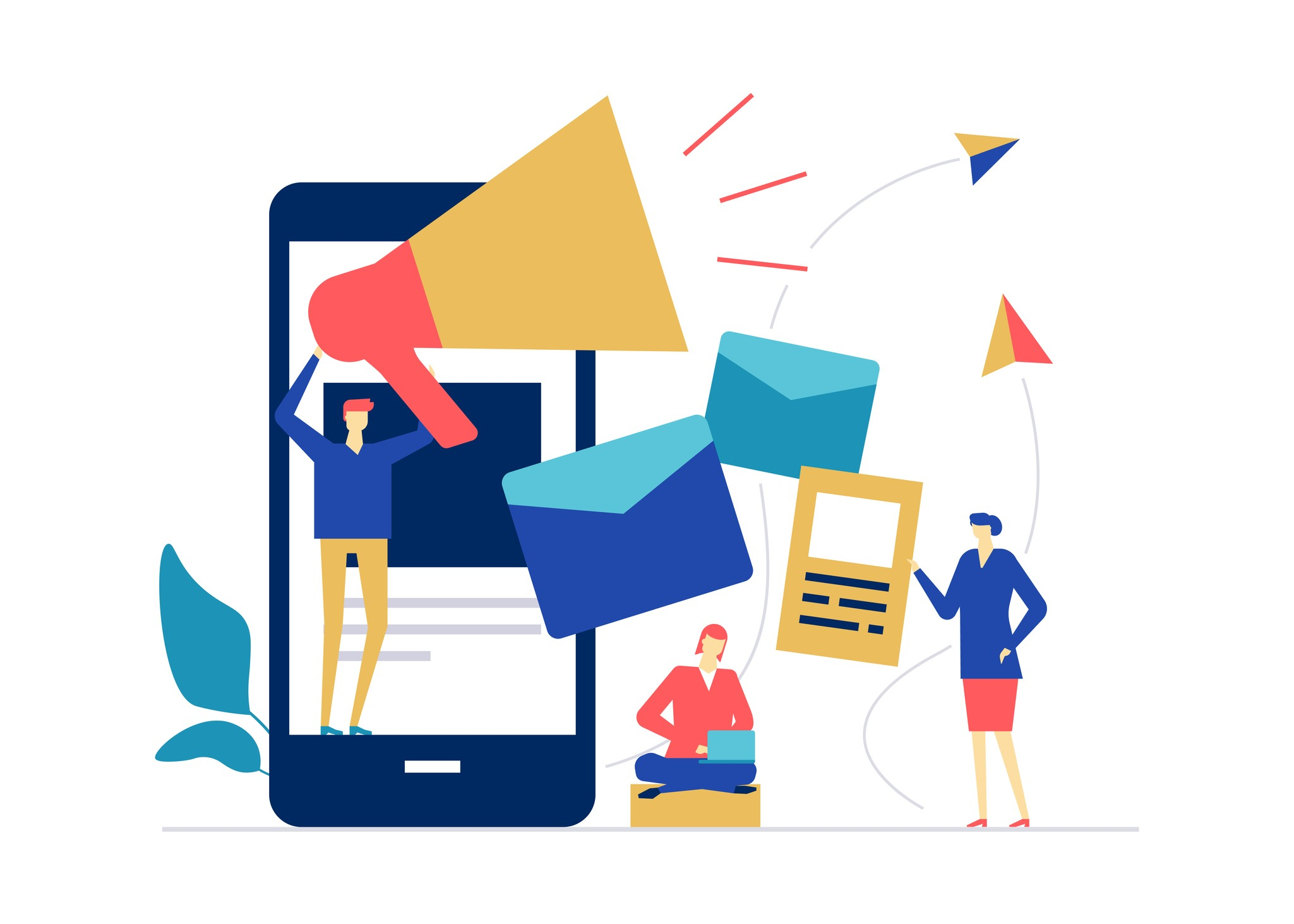 Digital marketing – flat design style colorful illustration